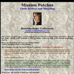 Mission Patches - Their Source and Meaning Page 001