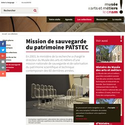 Mission de sauvegarde du patrimoine PATSTEC
