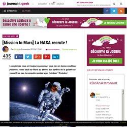 [Mission to Mars] La NASA recrute !