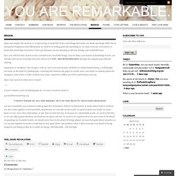 mission. « YOU ARE REMARKABLE
