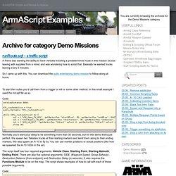 Demo Missions « ArmAScript Examples