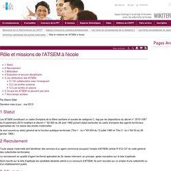 Rôle et missions de l'ATSEM à l'école (vitrine.Rôle et missions de l'ATSEM à l'école) - CNFPT