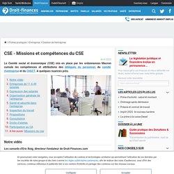 CSE - Missions et compétences du CSE