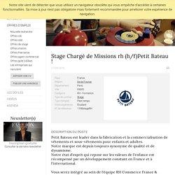 Stage Chargé de Missions rh (h/f)Petit Bateau !, PETIT BATEAU, PARIS - FashionJobs.com France (#1787267)