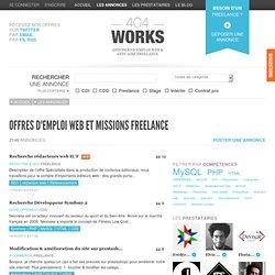 Offres d'emploi web et missions freelance