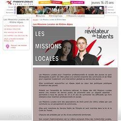 Missions Locales Jeunes de Rhône Alpes : Les Missions Locales de Rhône-Alpes