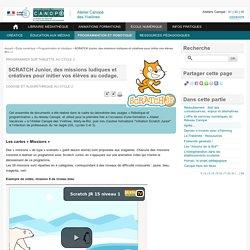 SCRATCH Junior, des missions ludiques et créatives pour initier vos élèves