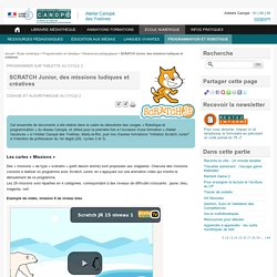 Des missions et des cartes - Scratch junior