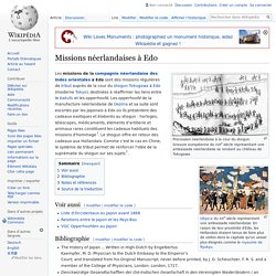 Missions néerlandaises à Edo