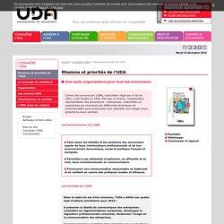 Missions et priorités de l'UDA> Union des annonceurs