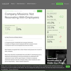 Company Missions: Not Resonating With Employees