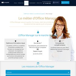 Fiche métier Office Manage : missions, salaire, diplôme