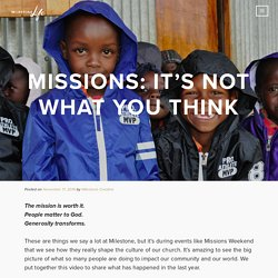 Missions: It's Not What You Think