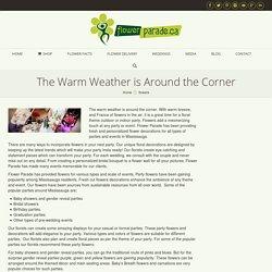Warm weather is around the Corner