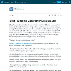 Best Plumbing Contractor Mississauga: torontoca — LiveJournal
