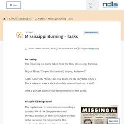 Mississippi Burning - Tasks