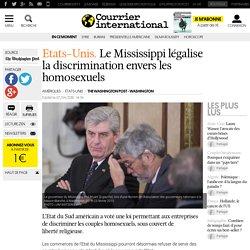 Etats-Unis. Le Mississippi légalise la discrimination envers les homosexuels