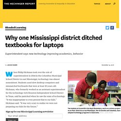 Why one Mississippi district ditched textbooks for laptops