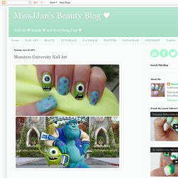 s Beauty Blog ♥: Monsters University Nail Art