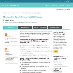 Missouri Self-Directed Supports (SDS) Program