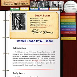 Daniel Boone - Historic Missourians - The State Historical Society of Missouri