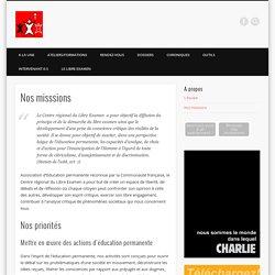 Nos misssions » Centre Régional du Libre Examen