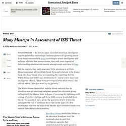 Many Missteps in Assessment of ISIS Threat - NYTimes.com