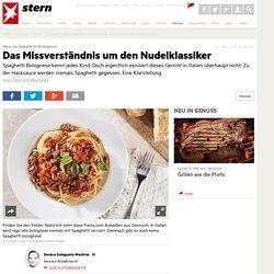Spaghetti bolognese: Das Missverständnis um den berühmten Nudelklassiker - Essen