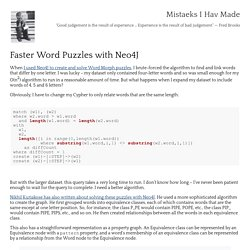 Mistaeks I Hav Made: Faster Word Puzzles with Neo4J