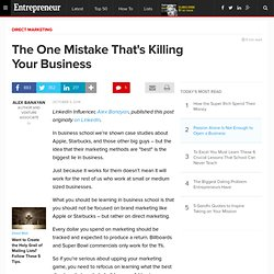 The One Mistake That's Killing Your Business
