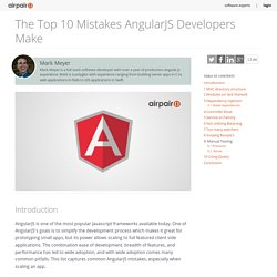 10 Top Mistakes AngularJS Developers Make