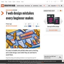 7 web design mistakes every beginner makes