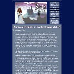 Karen Fox - Common Mistakes of Beginning Writers