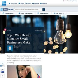 Top 5 Web Design Mistakes Small Businesses Make