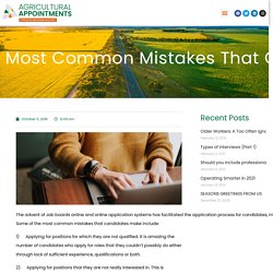 Most common mistakes that candidates make when applying online