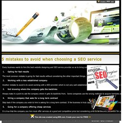 5 mistakes to avoid when choosing a SEO service
