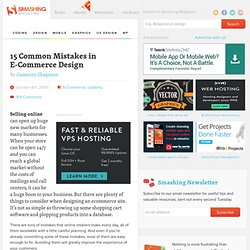 15 Common Mistakes in E-Commerce Design « Smashing Magazine