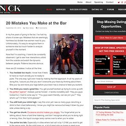 20 Mistakes You Make at the Bar