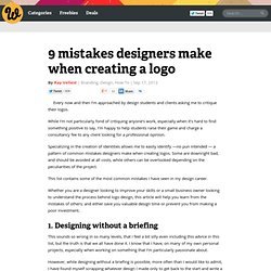9 mistakes designers make when creating a logo
