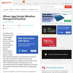 iPhone Apps Design Mistakes: Disregard Of Context - Smashing Magazine