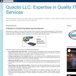 Quacito LLC: Expertise in Quality IT Services: 5 Mistakes to Avoid During Mobile App Development