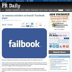 12 common mistakes on brands' Facebook pages