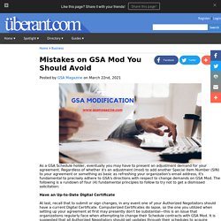 Mistakes on GSA Mod You Should Avoid