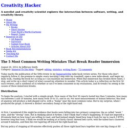 The 5 Most Common Writing Mistakes That Break Reader Immersion