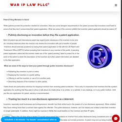 Patent Filing Mistakes to Avoid - Intellectual Property Lawyer