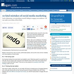 10 fatal mistakes of social media marketing