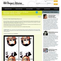 Mistakes Worth A Million! 10 Most Valuable Stamp Inverts.