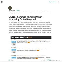 Avoid 5 Common Mistakes when Preparing for Electrical Tenders Bid Proposal