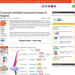 Common mistakes in present tenses in English %%page