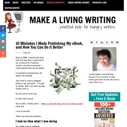 10 Mistakes I Made Publishing My eBook, and How You Can Do it Better